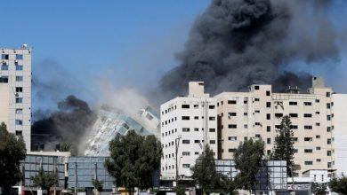 Photo of Bombardeo israelí destruyó un edificio donde funcionaban medios de prensa